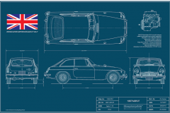 MGB GT Blueprint