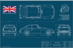 MGB GT Blueprint